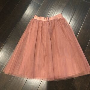 Express Skirts - Express High Waisted Tulle Midi Skirt